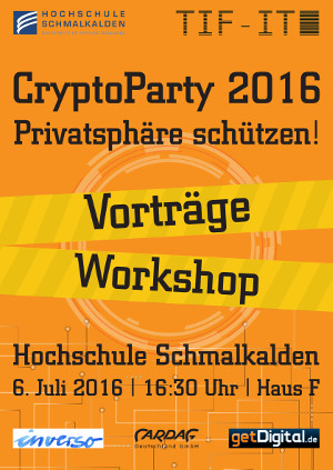 Plakat CryptoParty 2016