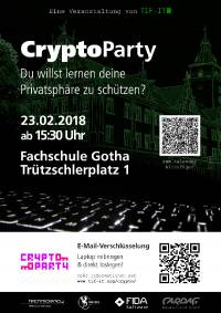 Plakat der Cryptoparty Gotha